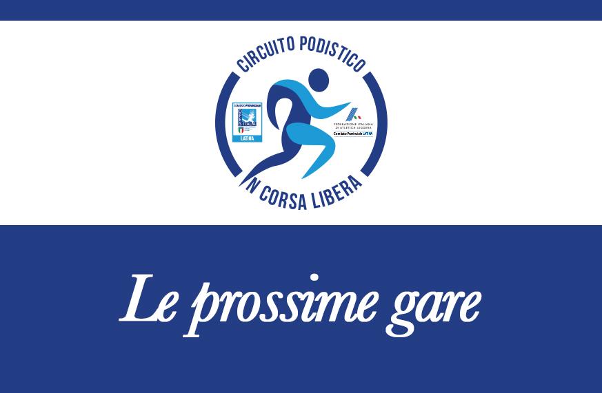 Calendario Delle Prossime Gare Di Podismo.Podismo Le Prossime Gare Di In Corsa Libera Opes Latina